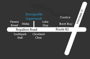 Strongsville Superwash Location Map